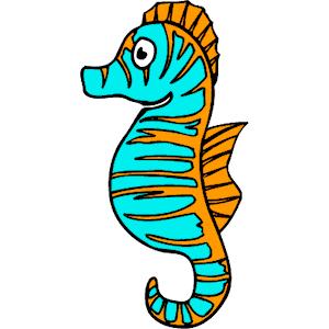Sea Life Clipart Seahorse Seahorse Clipart Image Cartoon Clipartcow Png 300 300