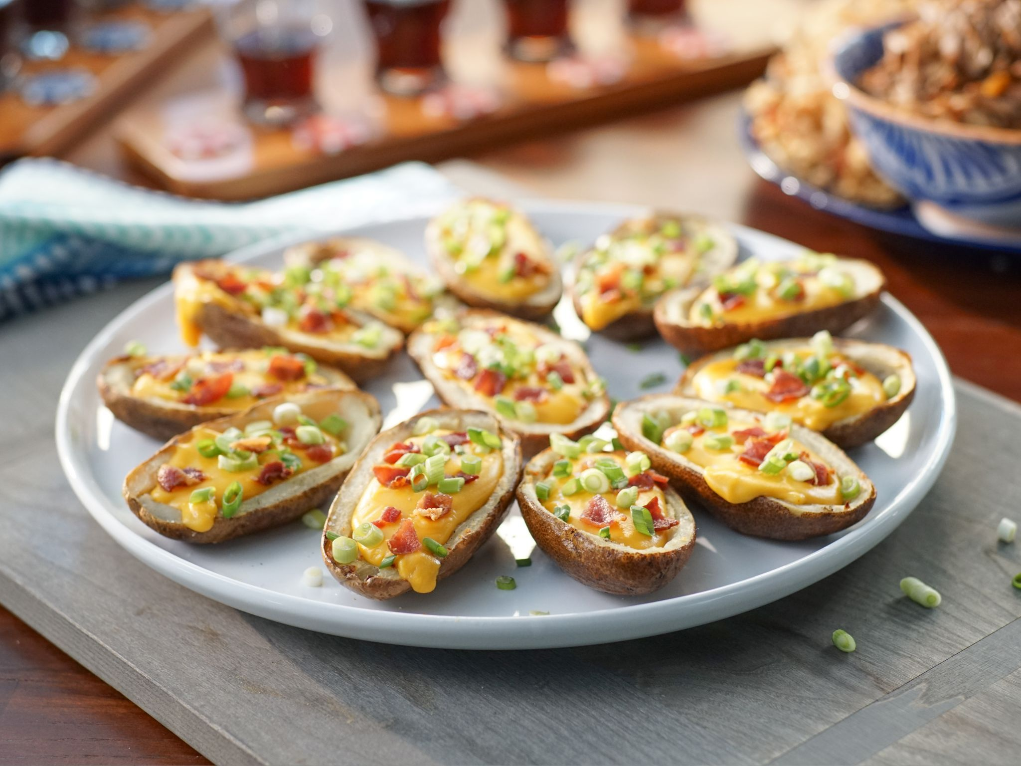 Potato skins with beer cheese recipe valerie bertinelli beer dips potato skins with beer cheese recipe from valerie bertinelli via food network forumfinder Choice Image