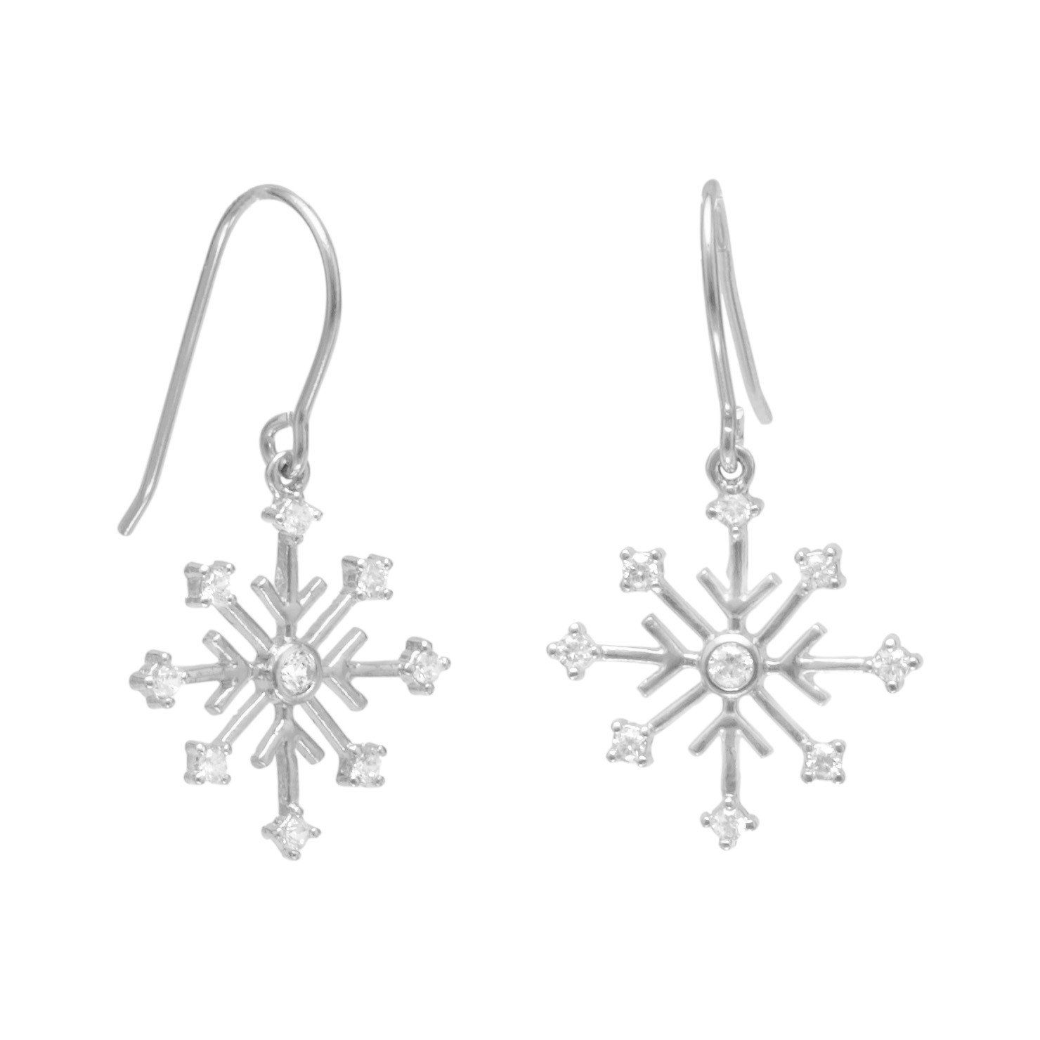 17 X 14 MM ONE STERLING SILVER SNOWFLAKE CHARM PENDANT FOR CHRISTMAS