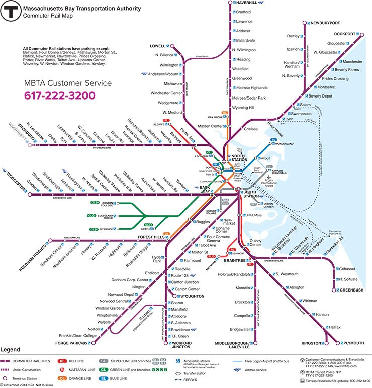 train in boston map Boston Commuter Trains Running Normally After Thursday Signal train in boston map