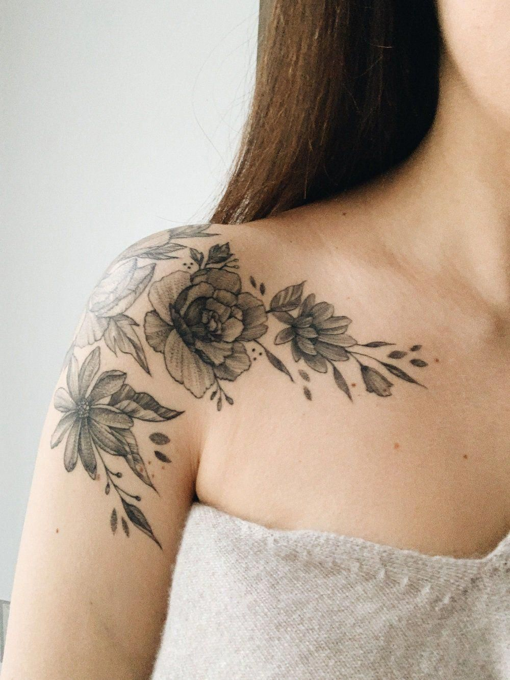 This Amazing Chest Tattoo Is Certainly An Inspirational And Top Notch Idea Chesttattoo In 2020 Tattoos Floral Tattoo Shoulder Chest Tattoo
