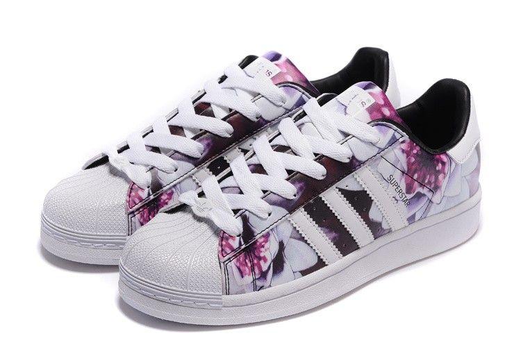 superstar adidas a fleurs