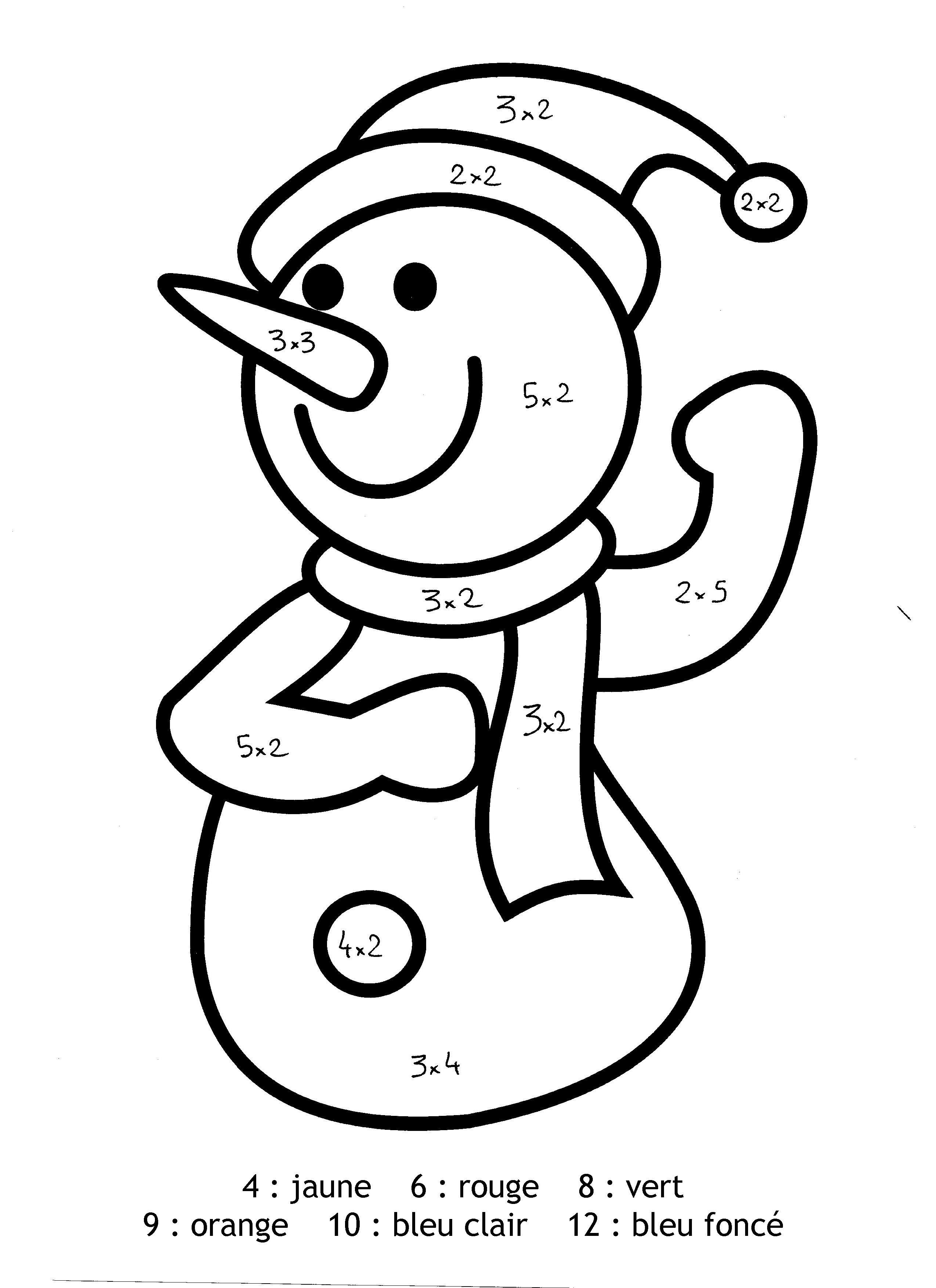 Pour imprimer ce coloriage gratuit «coloriage-magique-bonhomme-de-neige-multiplication», cliquez ...