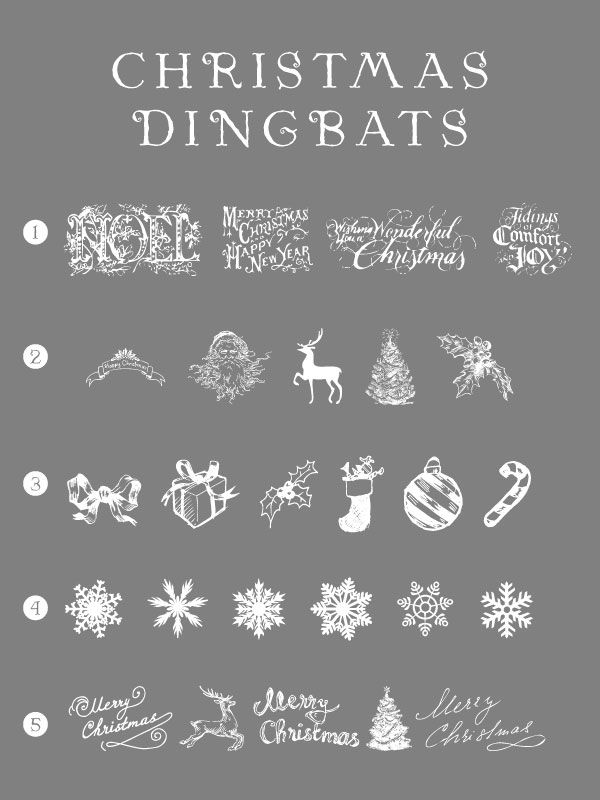Free Christmas Dingbats Fonts Xmas Dingbat Holiday Dingbat Fonts Dingbats Cool Fonts