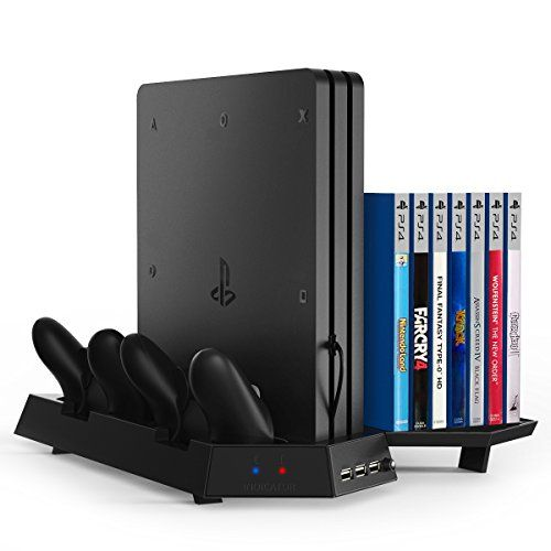 Kootek Vertical Stand For Ps4 Pro With Game Storage And Cooling