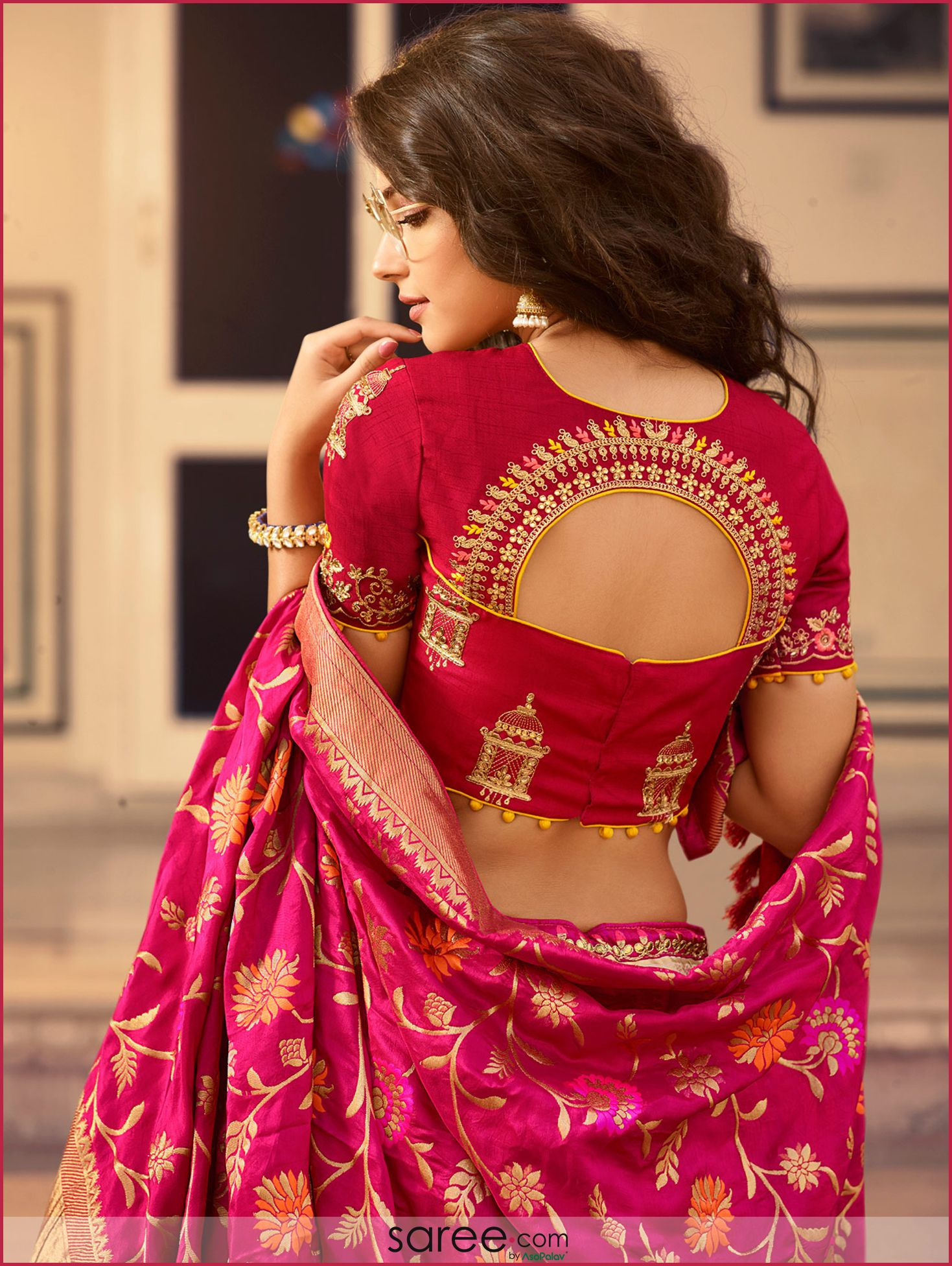 Pin By Bina1949 On Mm Blouse Bridal Blouse Designs Fancy Blouse Designs Stylish Blouse Design