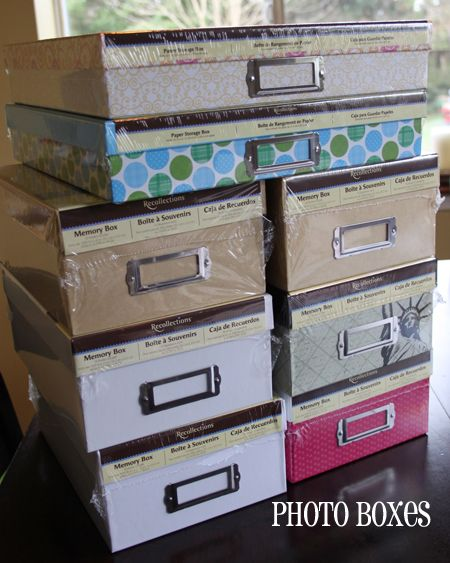 Photo boxes are great for photos and for keepsakes that might not fit into a photo album or scrapbook
