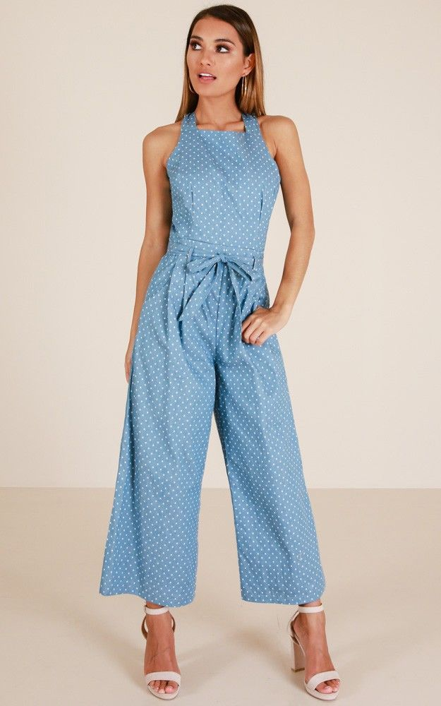 bc4a6325914 Showpo Sweet Secrets jumpsuit in chambray spot - 14 (XL) Casual ...