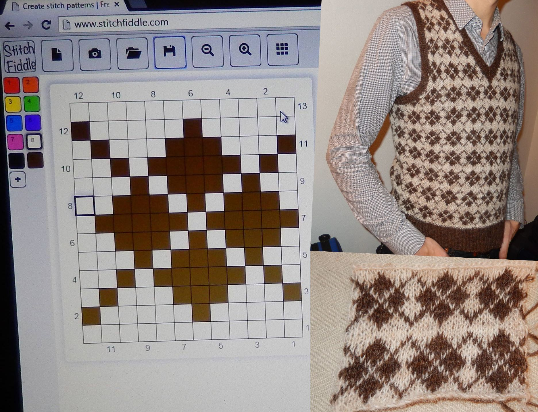 This is so cool! Make your own patterns at https://www.stitchfiddle ...