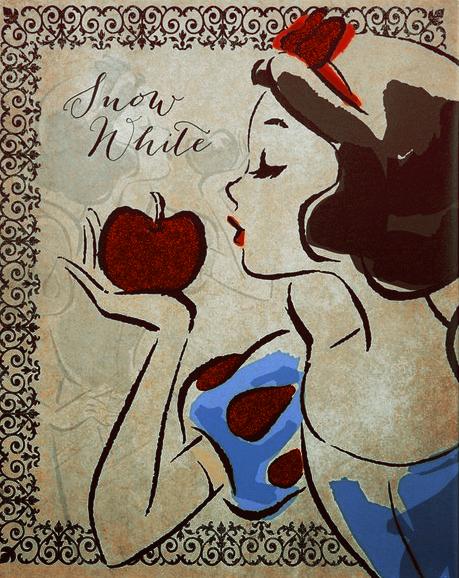 Красивые картинки Дисней Принцесс, сделанные тушью