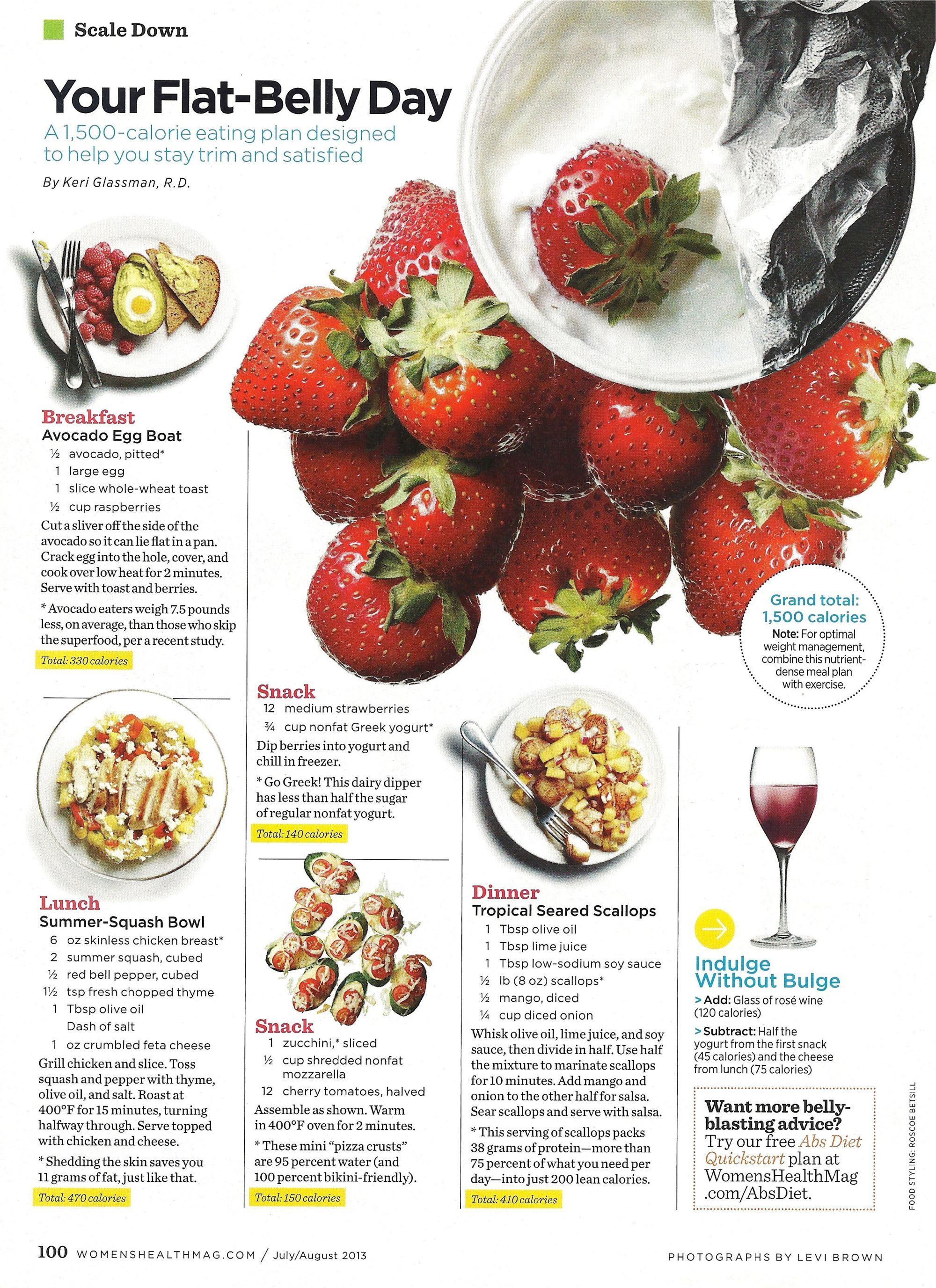 Flat Belly Diet Avocado Toast Squash Bowl And Scallops Women S Health Magazine In 2020 Flat Belly Foods Flat Belly Diet Best Diet Foods