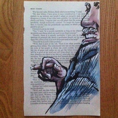 literary cigar sketch