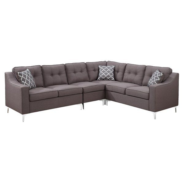 Bigelow 106 Quot Right Hand Facing Sectional Mid Century Sectional Sectional Sofa Furniture