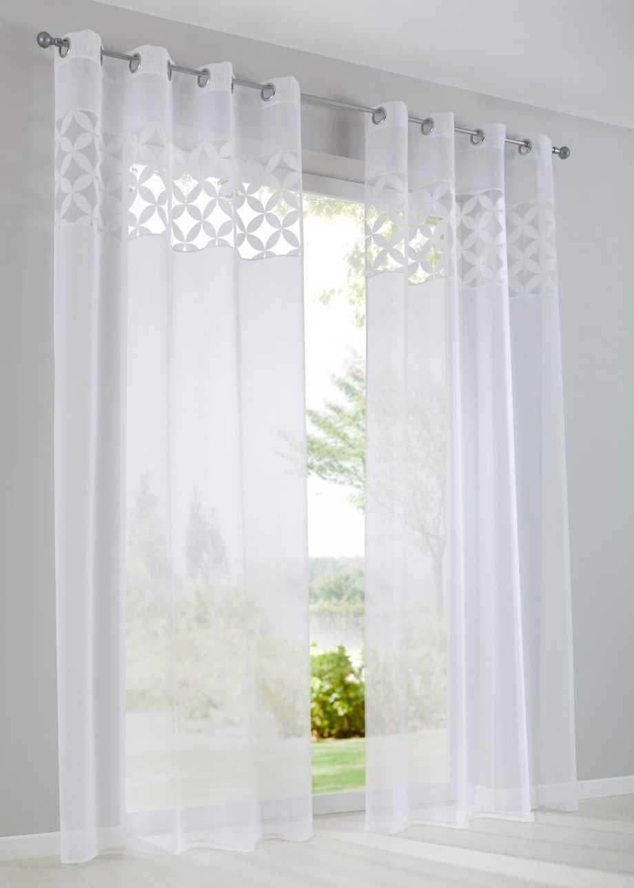 Modernes Ausbrenner Design - weiß, Kräuselband  Gardinen