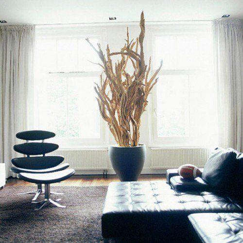unglaubliche Treibholz in Blumentöpfe im Wohnzimmer Schwemmholz - winter deko wohnzimmer