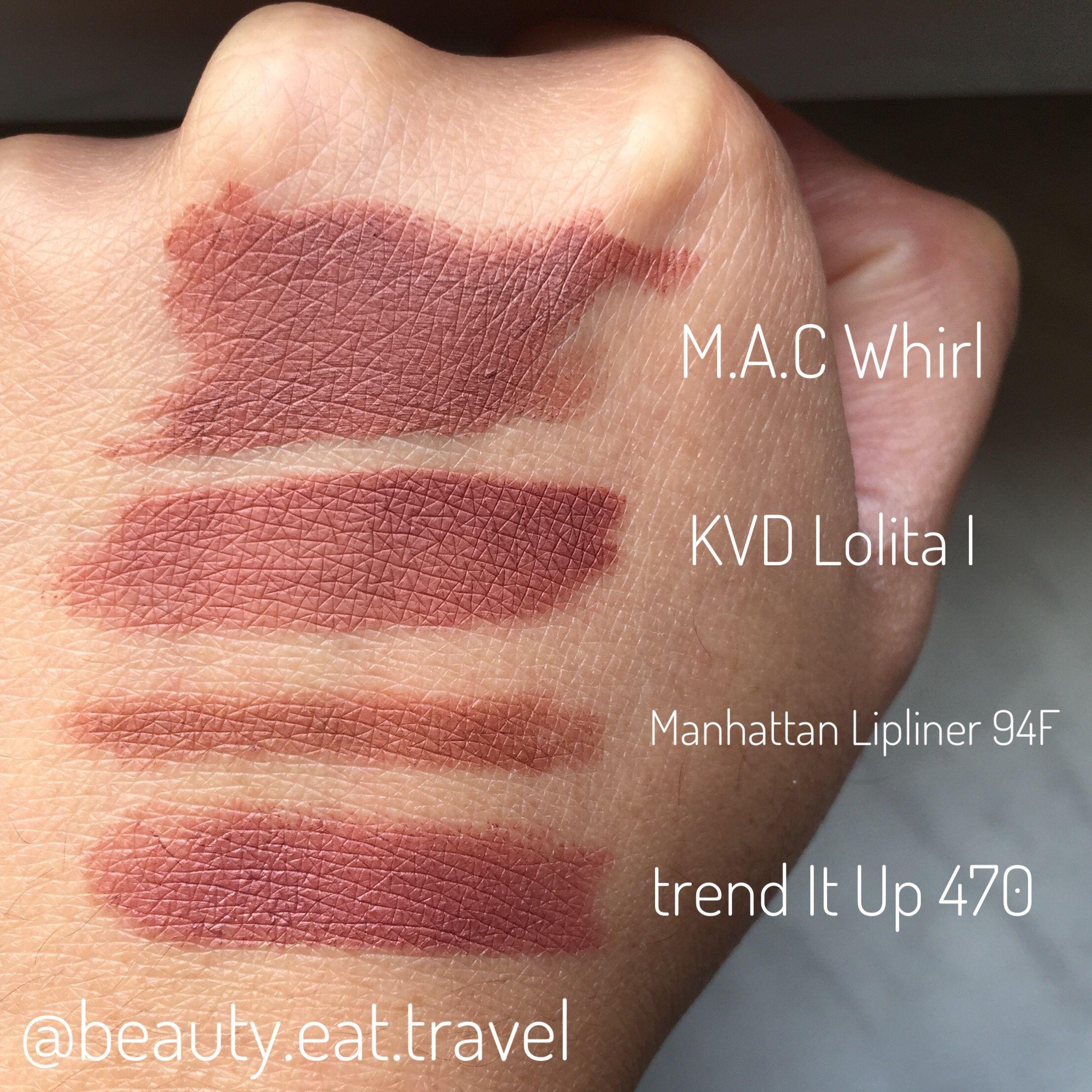 some lipstick dupes mac whirl kat von d lolita. Black Bedroom Furniture Sets. Home Design Ideas