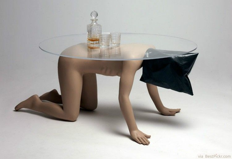 strange naked human coffee table art concept ❥❥❥ http