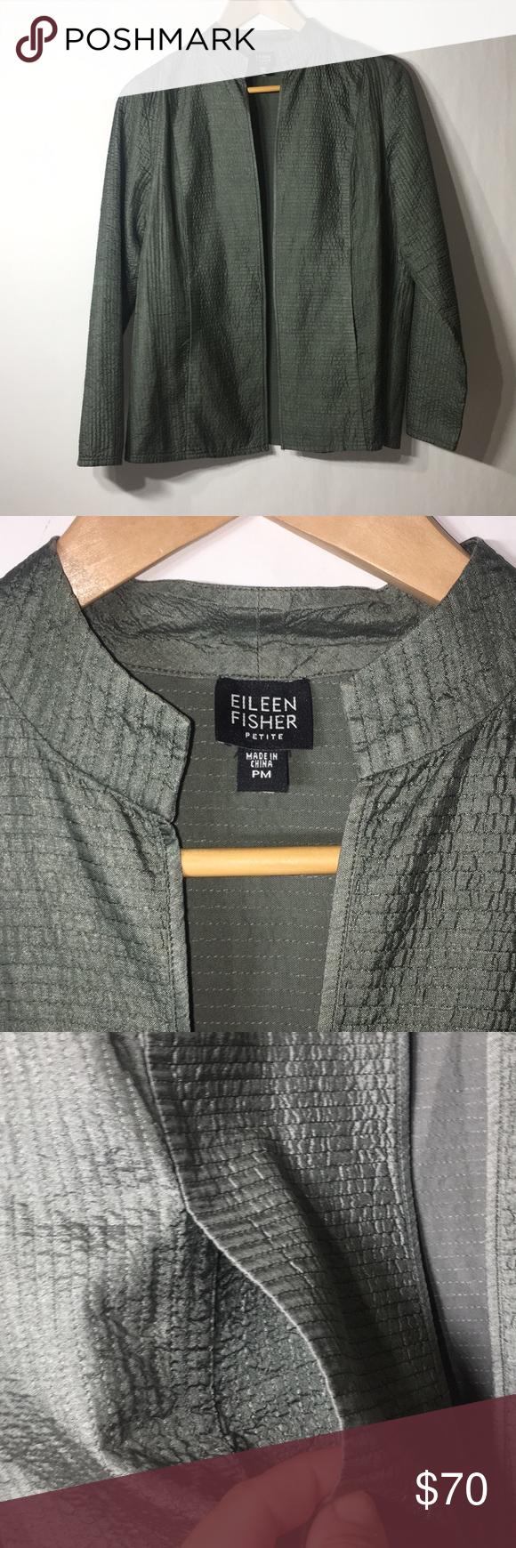 Eileen Fisher Silk Light Weight Open Jacket Pocket Approx 25 Long 22 Armpit To Armpit Pockets Euc Pre Eileen Fisher Jacket Eileen Fisher High Collar Jacket [ 1740 x 580 Pixel ]