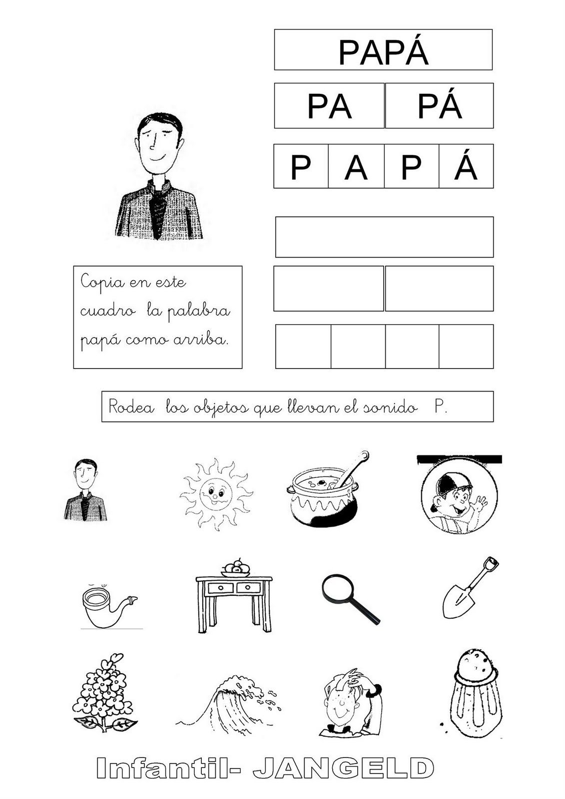 Actividades Con La Letra P Para Colorear Actividades Con La Letra P Actividades De Letras La Letra P