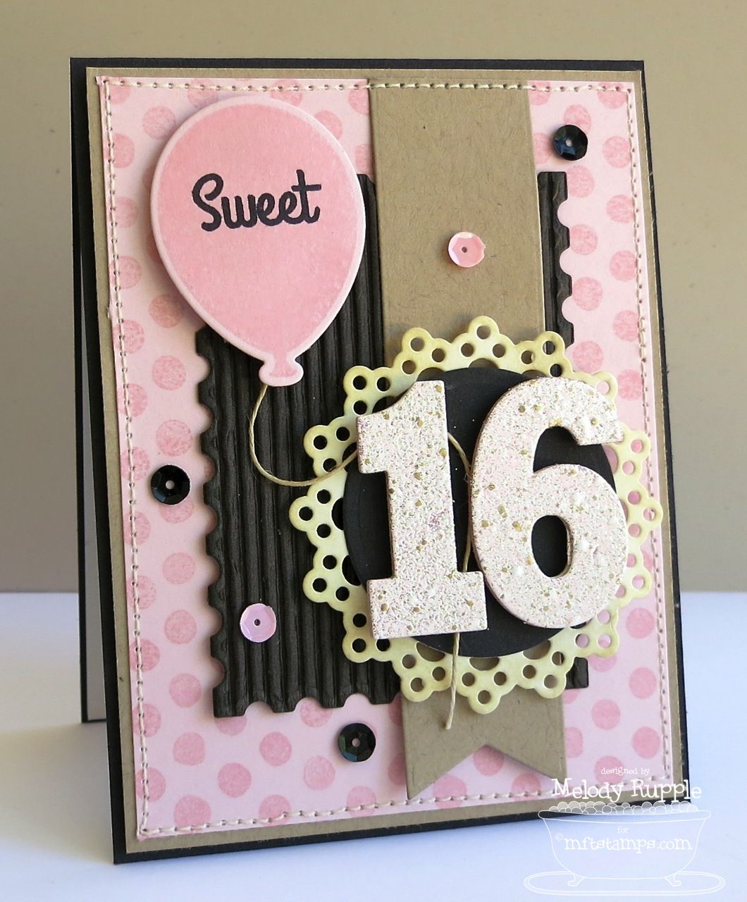 A Paper Melody MFTWSC133 Sweet 16 Handmade Cards