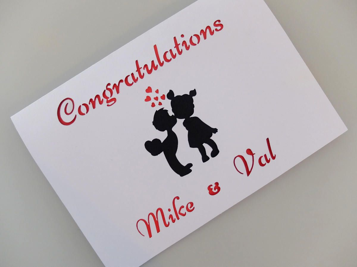 Personalised Congratulations Card Engagement Card Wedding Card