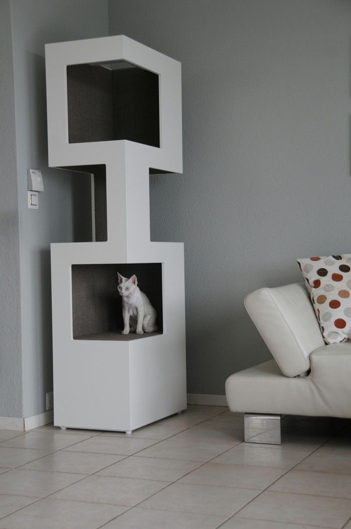 Cat Tree Cat Tower The One White Modern Design Cat