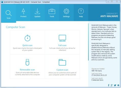GridinSoft Anti-Malware 3 1 4 Crack + Activation Code Free Download