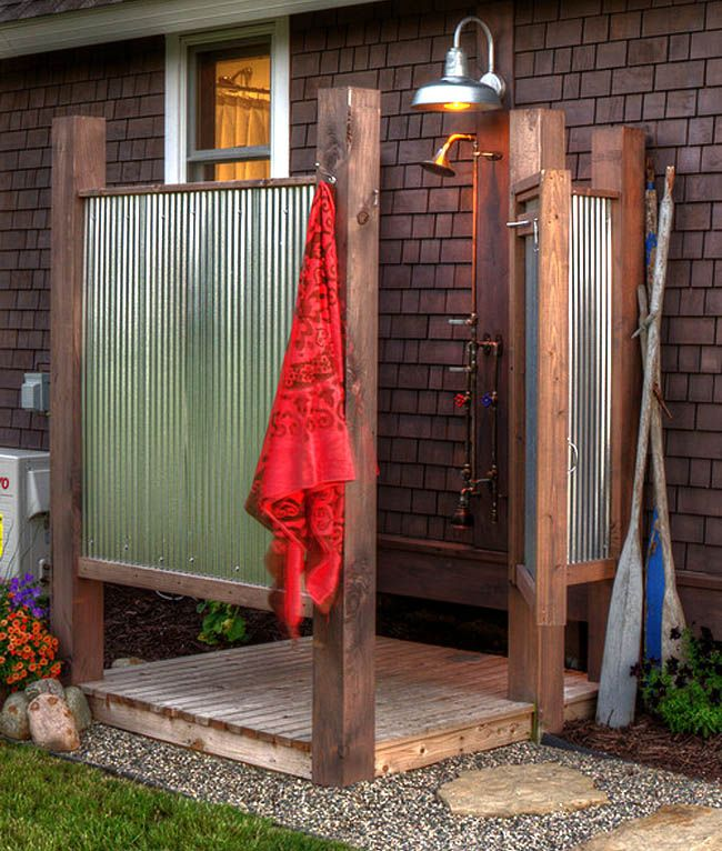 ideas for outdoor showers