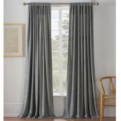 Buy Warren 108 Inch Window Curtain Panel In Grey From Bed