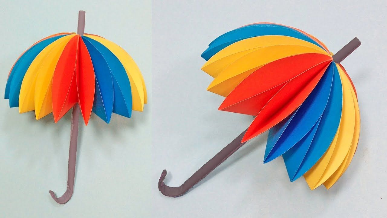 How To Make An Amazing Umbrella With Color Paper Diy Paper