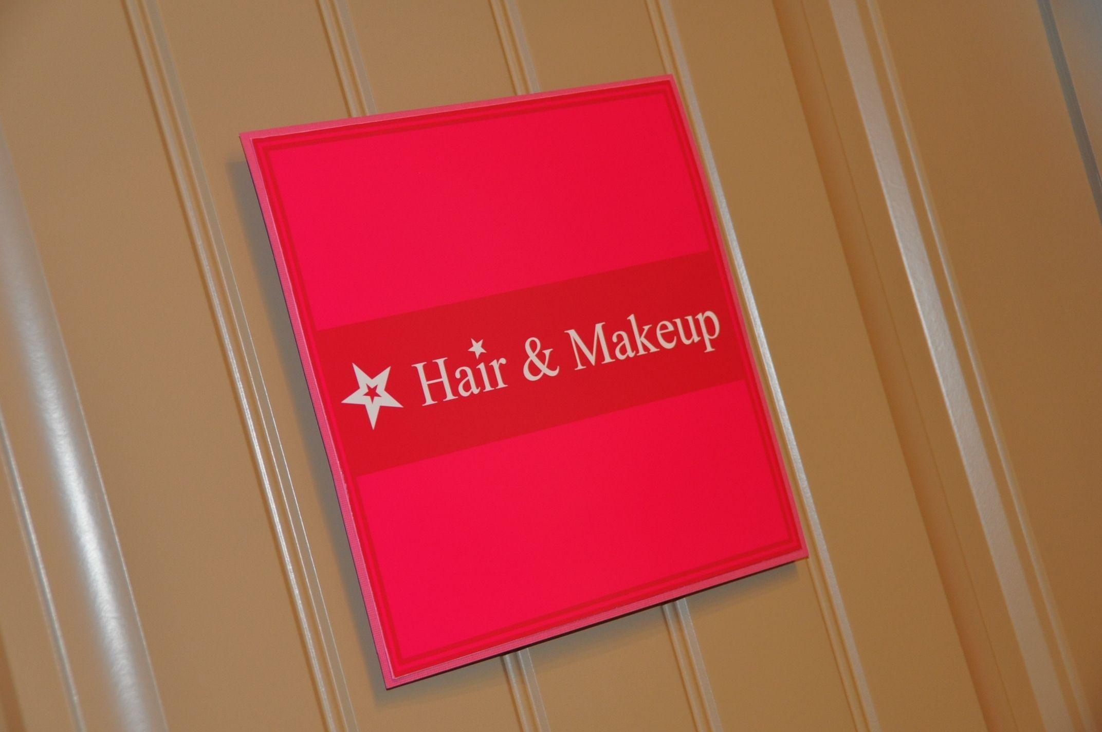 Hair & Makeup Door Sign Doll party, Hair makeup