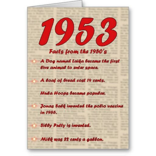Gt Consumer Reviews Happy Birthday 1953 Year Of Birth News 50s Card