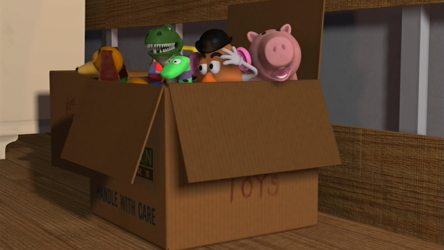 andy u2019s toys need to be properly secured in the moving box