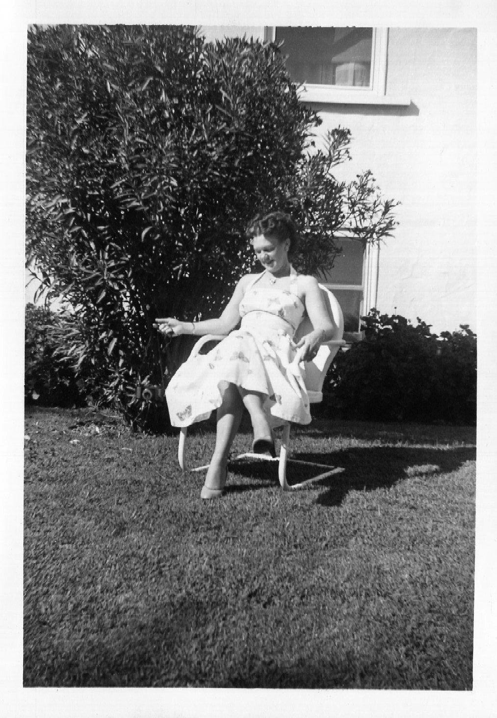 Vintage Photo..Enjoying the Sunshine 1950's, Found Photo, Old Photo Snapshot…