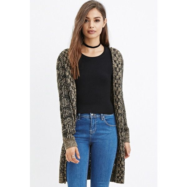 Forever 21 Forever 21 Women's Two-Tone Longline Cardigan ($23 ...