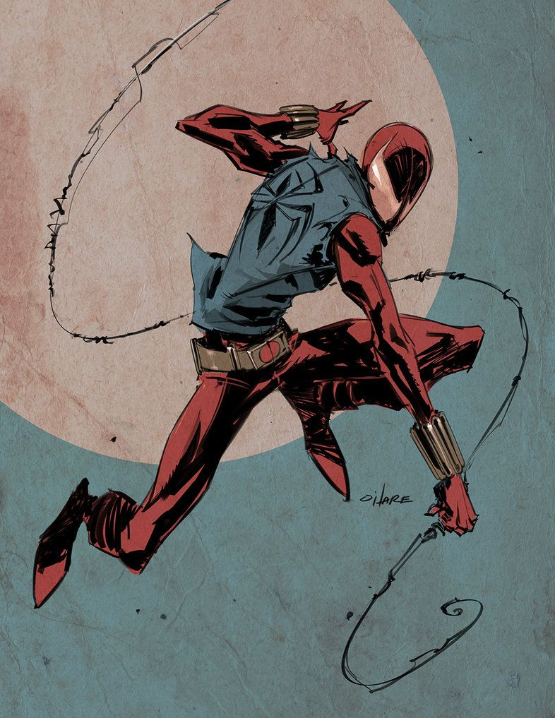 Sketch of Scarlet Spider!
