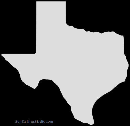 Texas Map Outline Printable State Shape Stencil Pattern Texas Map Map Outline Texas Outline