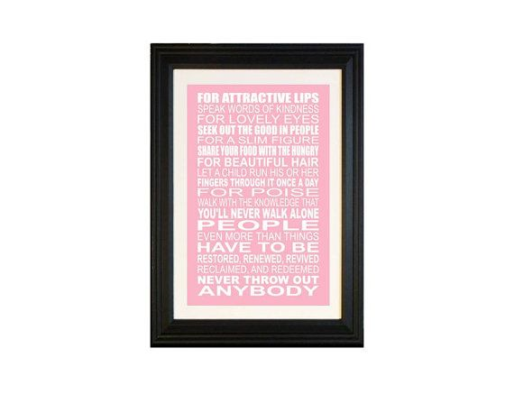 Beauty Tips Quote Wall Art Print ANY COLOR 11x17 by breedingfancy, $22.00