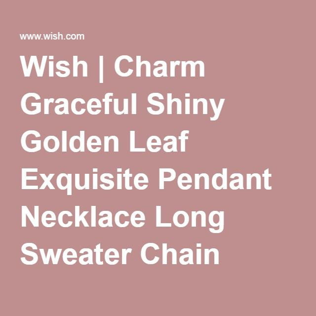 Wish | Charm Graceful Shiny Golden Leaf Exquisite Pendant Necklace Long Sweater Chain