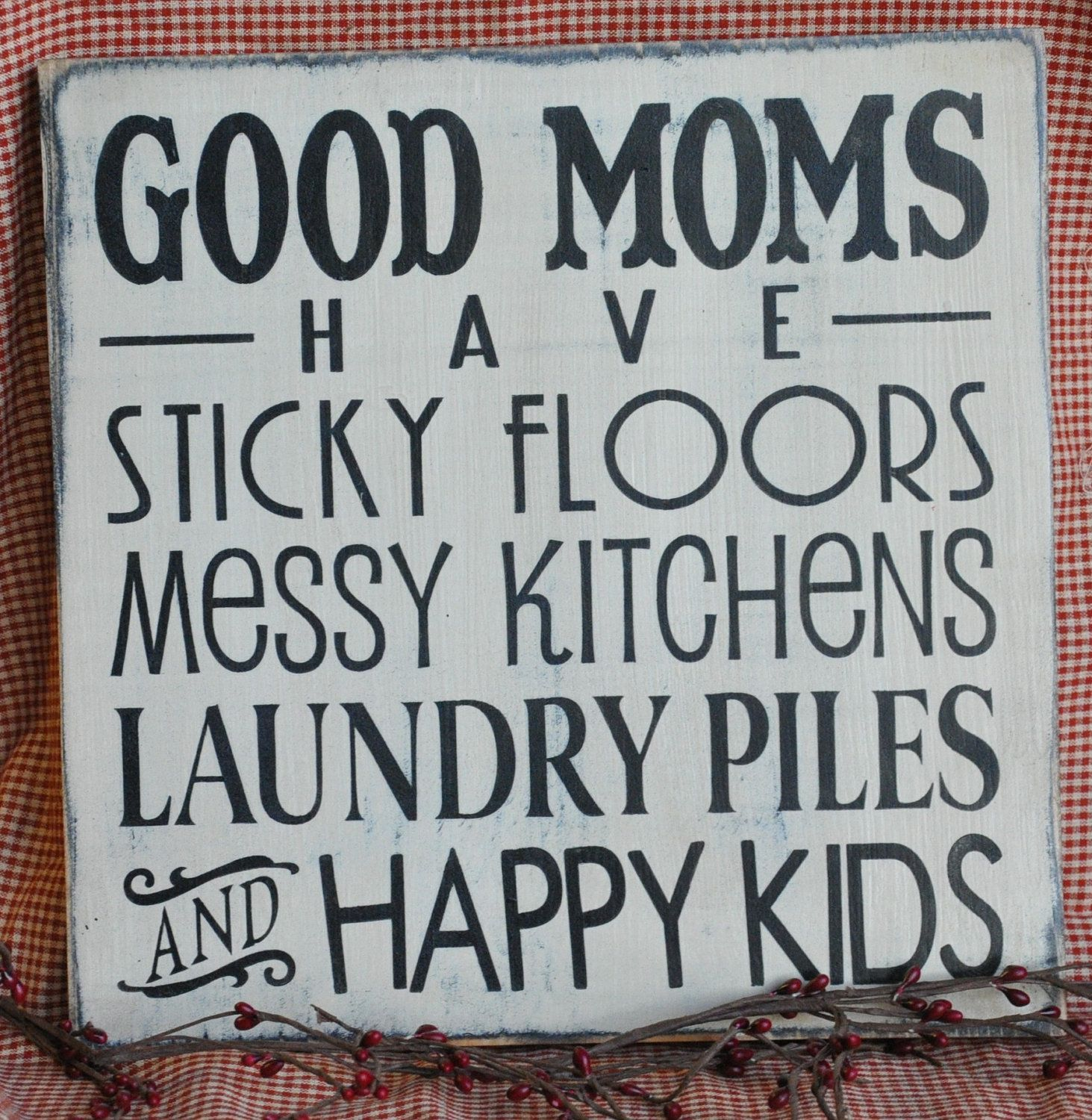 """free primitive images to paint on wood   Primitive Shabby Western Rustic Wood Sign/Shelf Sitter """"Good Moms"""""""