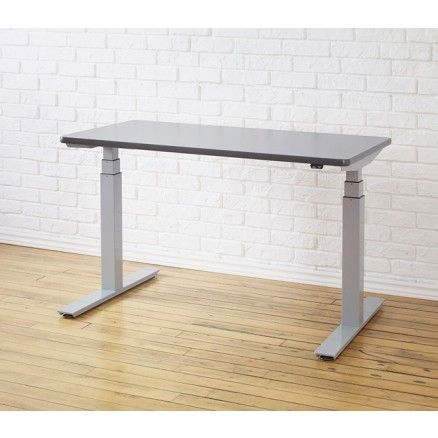 $1139 ErgoCentric Electric Standing Desk - Up to 51in - upCentric - Silver base