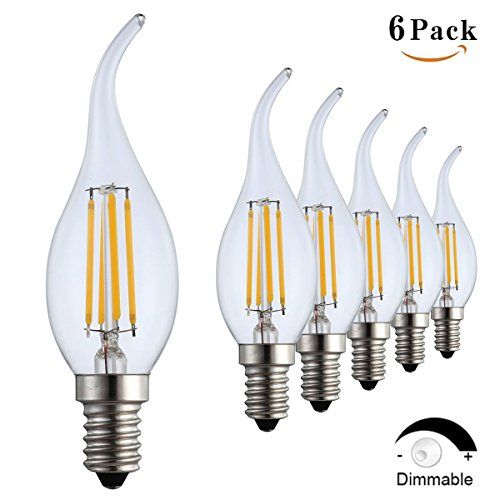 Flame Light Bulb Replacement Bulb Electric Candle Lamps 6 Pack