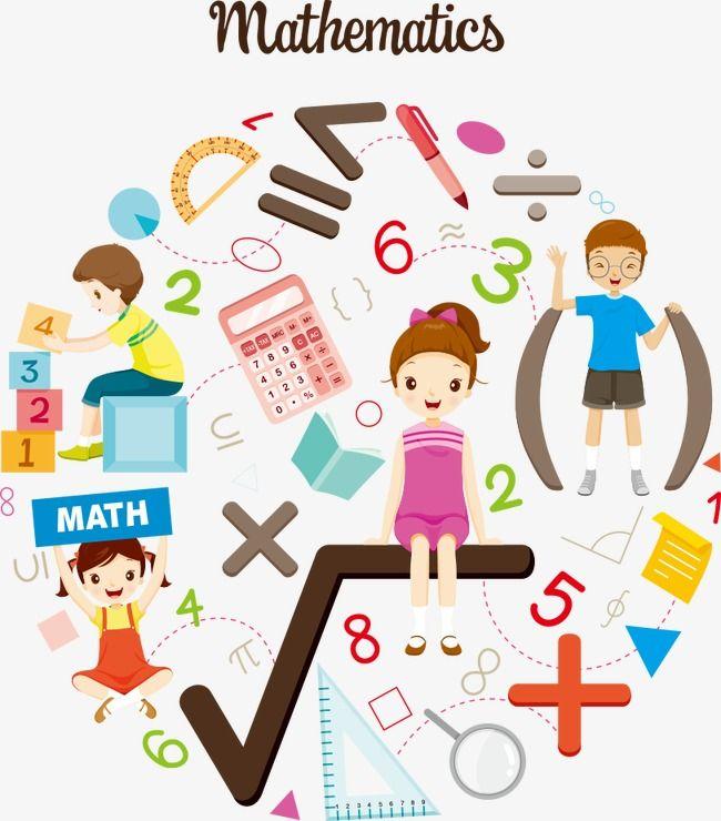 ناقلات الاطفال المهتمة في الرياضيات ناقلات حرف كارتون الأطفال