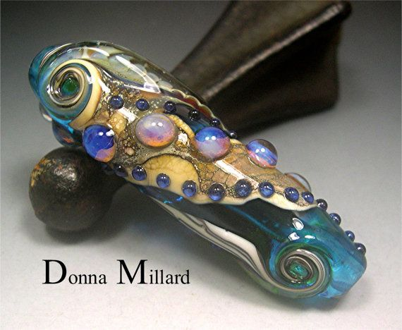 HANDMADE LAMPWORK Focal Bead Donna Millard SRA by DonnaMillard, $60.00