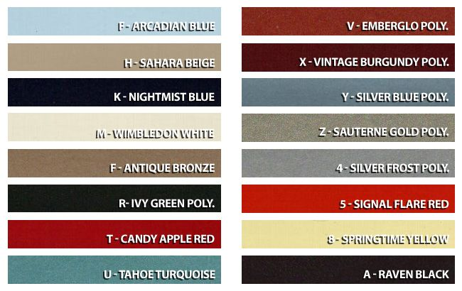 1966 Mustang Exterior Factory Color Options Mustang Info