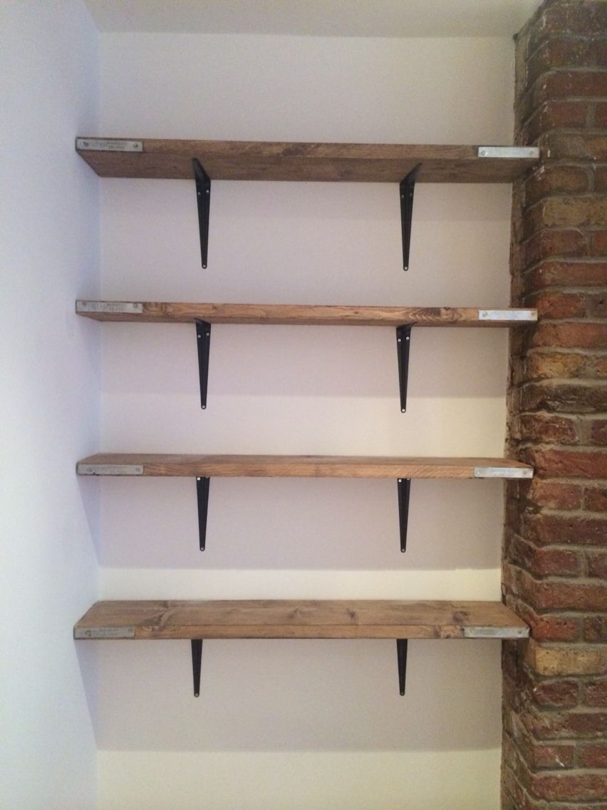 Scaffold board shelving i recently brought some new for B q living room shelves