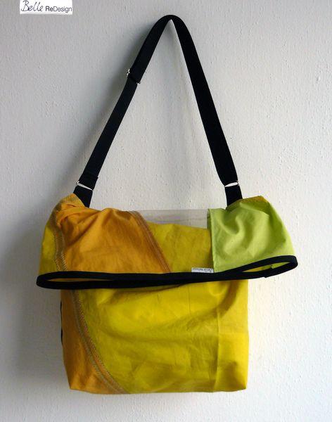Schoudertas van surfzeil - geel oranje van BelleReDesign op DaWanda.com