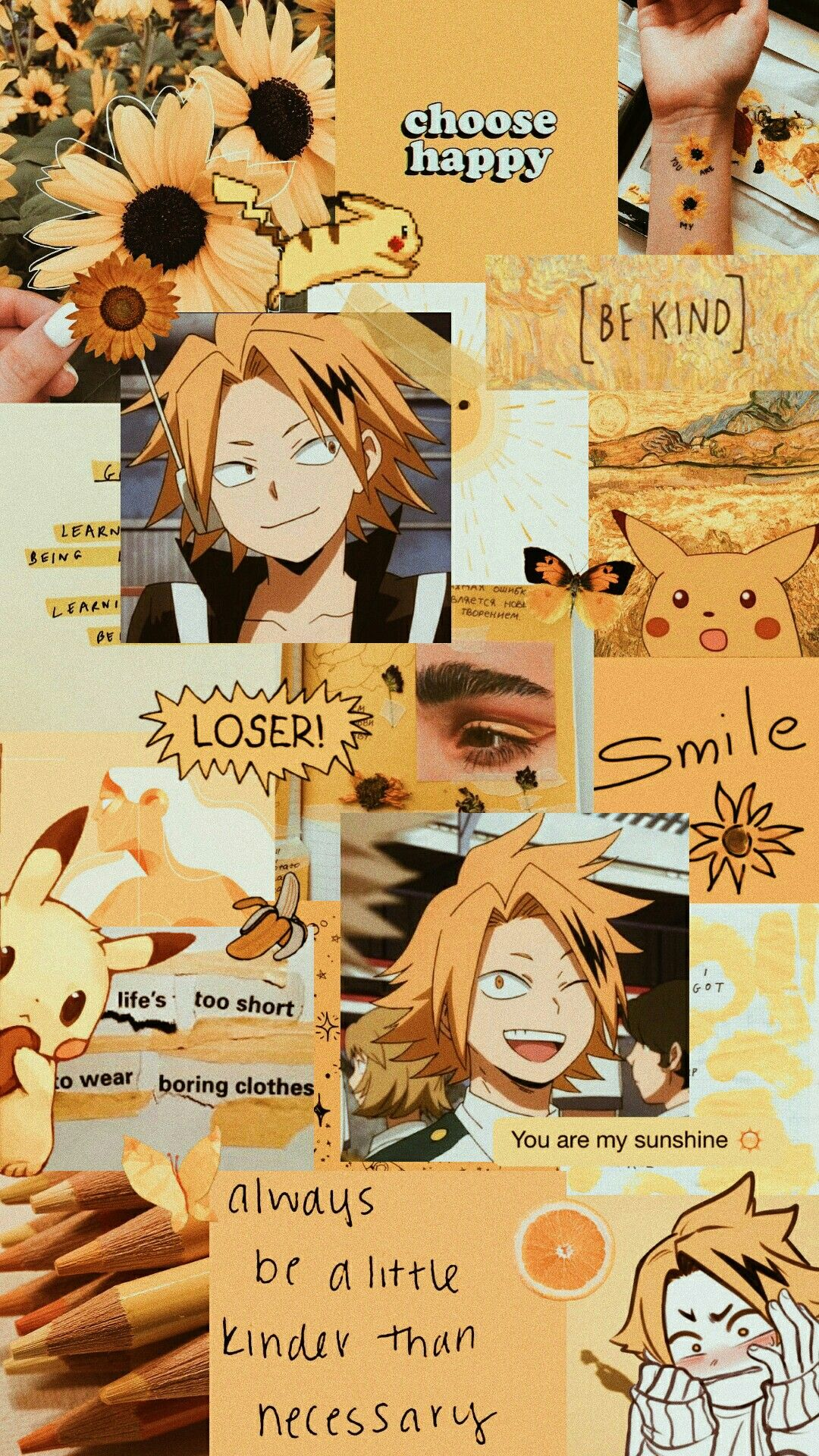 Denki Kaminari Hero Wallpaper Cute Anime Wallpaper