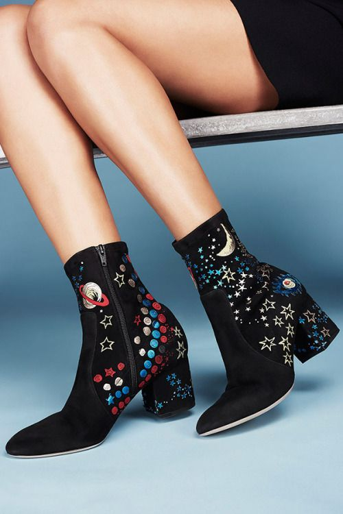 Send your style to the stars and back with Valentino's galactic suede Astro  boot, now available at Saks.com. #10022Shoe