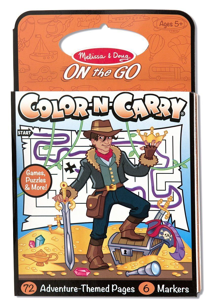 melissa and doug adventure color n carry book on the go travel activity - Melissa And Doug Coloring Book
